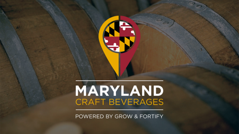 Maryland Craft Beverages app, powered by Grow & Fortify, logo